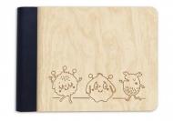Album drewniany Potworki, 18x14 cm