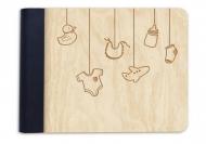 Album drewniany Przybory dziecięce , 18x14 cm