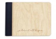 Album drewniany Where it all began, 18x14 cm
