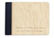Album drewniany Bilet powrotny, 18x14 cm