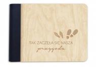Album drewniany Nasza przygoda, 18x14 cm