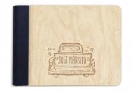 Album drewniany Just married, 18x14 cm