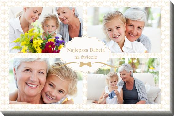 Obraz, Najlepsza Babcia na świecie, 80x60 cm