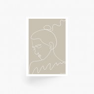 Plakat, Kolekcja Grafikk Jasikk - Nostalgia beż, 30x40 cm