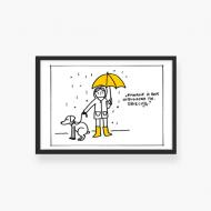 Plakat w ramce, Kolekcja Jeden Rysunek Dziennie - Listopad, 30x20 cm