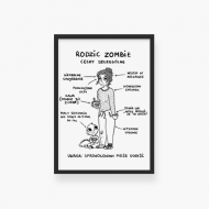 Plakat w ramce, Kolekcja Nie mogę, trzymam dziecko - Rodzic Zombie, 20x30 cm