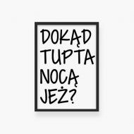 Plakat w ramce, Kolekcja Ptaszek Staszek - Dokąd TUPTA?, 20x30 cm