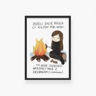 Plakat w ramce, Kolekcja Rynn rysuje - Kłody pod nogi, 20x30 cm