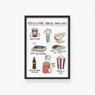 Plakat w ramce, Kolekcja Rynn rysuje - Rzecz co smakują najlepiej , 20x30 cm