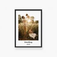 Plakat w ramce, Twój projekt rodzinny - czarna ramka, 20x30 cm