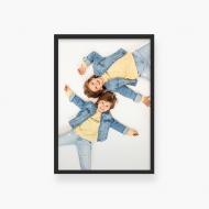 Plakat w ramce, Twój projekt - czarna ramka, 20x30 cm
