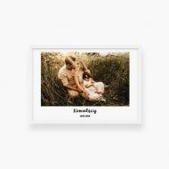Plakat w ramce, Twój projekt rodzinny - biała ramka, 30x20 cm