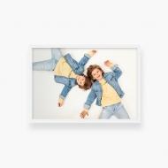 Plakat w ramce, Twój projekt - biała ramka, 30x20 cm