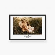 Plakat w ramce, Twój projekt rodzinny - czarna ramka, 30x20 cm