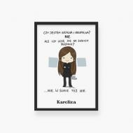 Plakat w ramce, Kolekcja Rynn rysuje - Czy uczę się na błędach, 20x30 cm