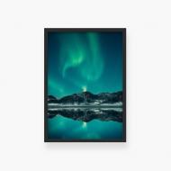 Plakat w ramce, Zorza polarna, 30x40 cm