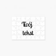 Puzzle, Twój tekst, 20 elementów
