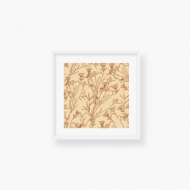 Plakat w ramce, Pure Nature - Flower - Biała Ramka, 35x35  cm