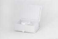 Pudełko na zdjęcia, 10x15 białe ekoskóra, 12x17 cm