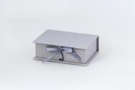 Pudełko na zdjęcia, 10x15 szare, 12x17 cm