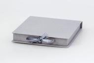 Pudełko na fotoksiażkę, 20x20 szare, 20x20 cm