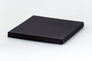 Pudełko na fotoksiażkę, 20x20 czarne matowe, 20x20 cm