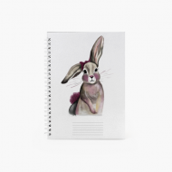 Notes Bunny - kropki, 15x21 cm