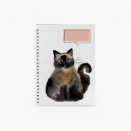 Notes Cat - linie, 15x21 cm
