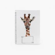 Notes Giraffe - kratka, 15x21 cm