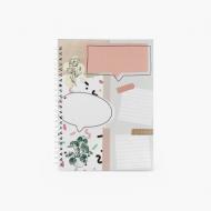 Notes Scrapbook'owy - Twoja notatka - kratka, 15x21 cm