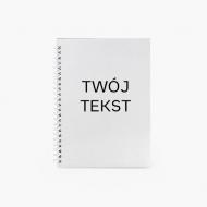 Notes Twój tekst kratka, 15x21 cm