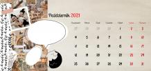 Kalendarz, Scrapbook'owy, 22x10 cm