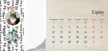 Kalendarz, Scrapbook'owy - Twoje notatki, 22x10 cm