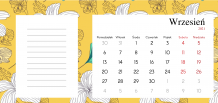Kalendarz, Botaniczny, 22x10 cm