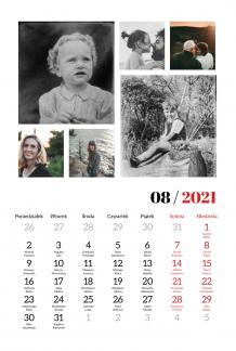 Kalendarz, Chwytaj wspomnienia, 20x30 cm