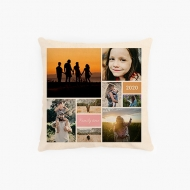 Poduszka, bawełna ekologiczna, Kolaż zdjęć, 40x40 cm
