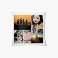 Poduszka, bawełna, Kolaż zdjęć, 38x38 cm