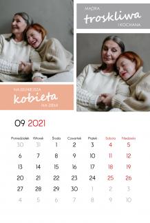 Kalendarz, Dziękuję Ci Mamo, 20x30 cm