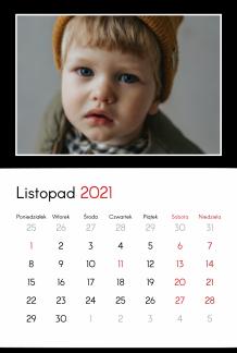 Kalendarz, Twój projekt kontrastowy, 20x30 cm
