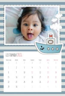 Kalendarz, Dziecięce przygody, 20x30 cm