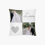 Poduszka, bawełna, Love wedding, 38x38 cm
