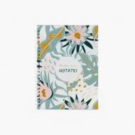 Zeszyt Kwiaty - krata, 15x21 cm
