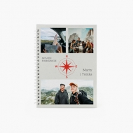 Zeszyt Notatki podróżnicze kratka, 15x21 cm