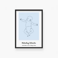 Plakat w ramce, Baby niebieski, 20x30 cm