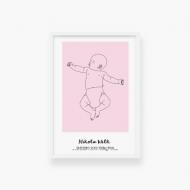 Plakat w ramce, Baby różowy, 20x30 cm