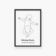 Plakat w ramce, Baby - czarna ramka, 20x30 cm