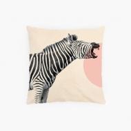 Poszewka, bawełna ekologiczna, Zebra, 38x38 cm