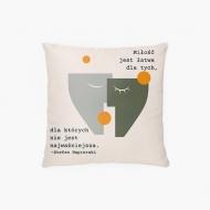 Poduszka, bawełna, Cytat Napierski, 38x38 cm