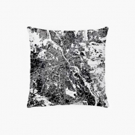 Poszewka, bawełna, Mapa Warszawy, 38x38 cm