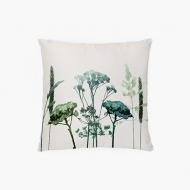 Poduszka, bawełna, Poduszka roślinna, 38x38 cm
